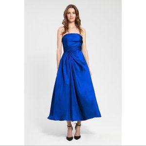 Monique Lhuillier Lace Back Gown NWOT Cobalt Blue